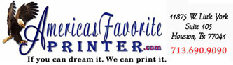 Americas Favorite Printer and Banners